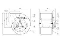 Nicotra-Gebhardt Ventilator DD9/7 M951 1F 6P 1V Art. 6M0690