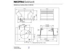 Radial-Dachventilator Gebhardt genovent RDA 31-3535-GD inkl. Revisions-Schalter, eingebaut